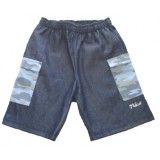 Denim and Blue Camo Bermuda Boys 5-6 years