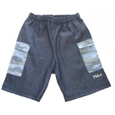 Denim and Blue Camo Bermuda Boys 9-10 years