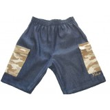 Denim and Stone Camo Bermuda Boys 9-10 years