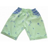 Lime Flowers Shorts Girls 6-12 months