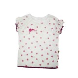 White Floral Top Girls 7-8 years