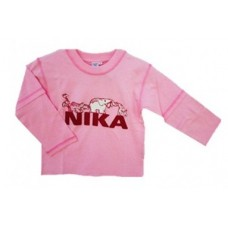 Pink NIKA Long Sleeve T-shirt Girls 9-10 years