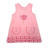 Pink Blooming Nice Stripe Pinafore Girls 9-10 years