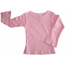 Pink Long sleeve Fitted T-shirt Girls 3-4 years