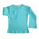 Turquoise Long sleeve Fitted T-shirt Girls 7-8 years
