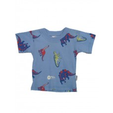Blue Dino T-shirt Boys 6-12 months