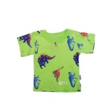 Lime Dino T-shirt Boys 12-18 months