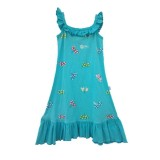Turquoise Dragonfly Frill Dress Girls 7-8 years