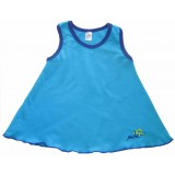 Simply Turquoise Summer Swing Top Girls 5-6 years