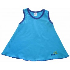 Simply Turquoise Summer Swing Top Girls 7-8 years