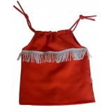 Orange Tassel Top Girls 7-8 years