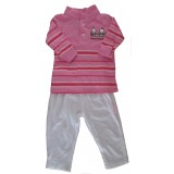 Pink Pants set Girls 3-6 months