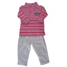 Pink Pants set Girls 0-3 months