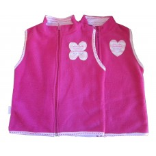 Shocking Pink Famous Kids Body warmer Girls 9-10 years